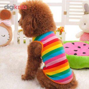 لباس سگ طرح رنگارنگ