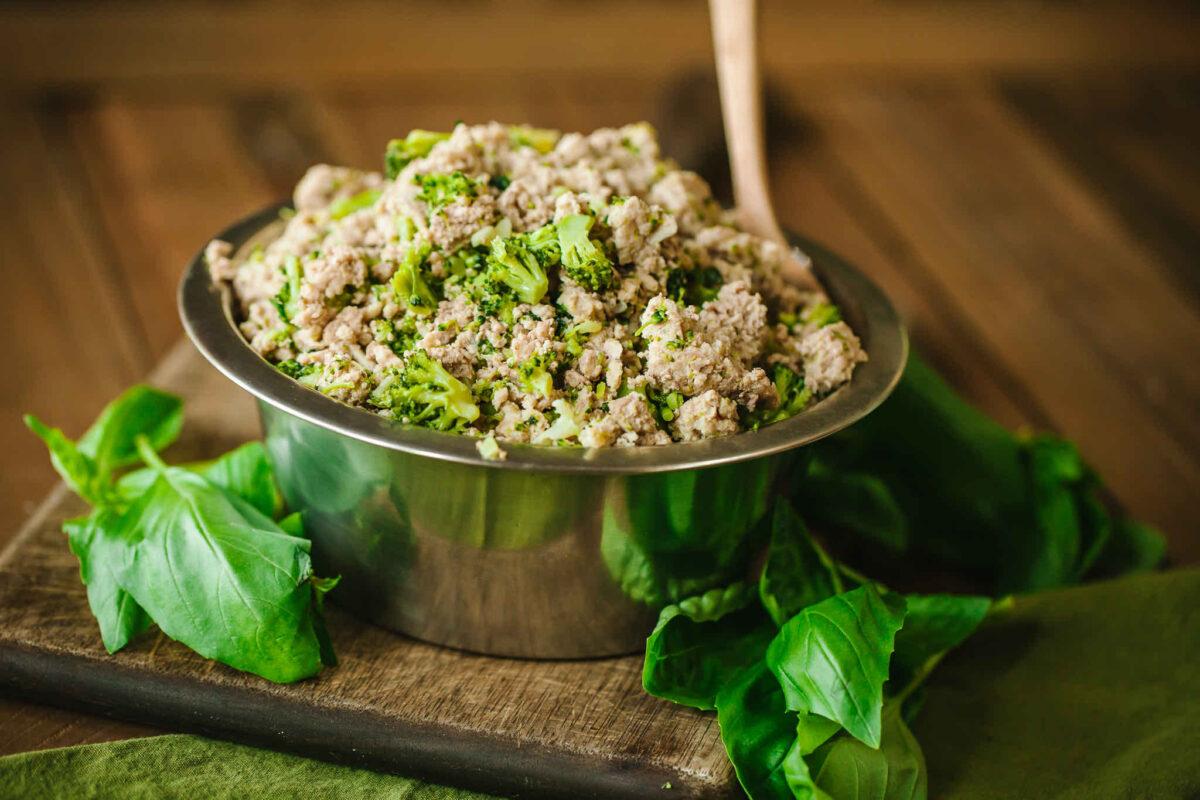 غذای حاوی سبزیجات برای سگ