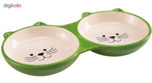 ظرف غذای گربه سرامیک